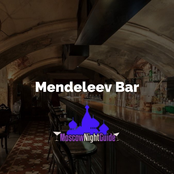 Mendeleev Bar Moscow reviewed by Moscownightguide